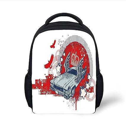 11205be836f9 Amazon.com  iPrint Kids School Backpack Retro