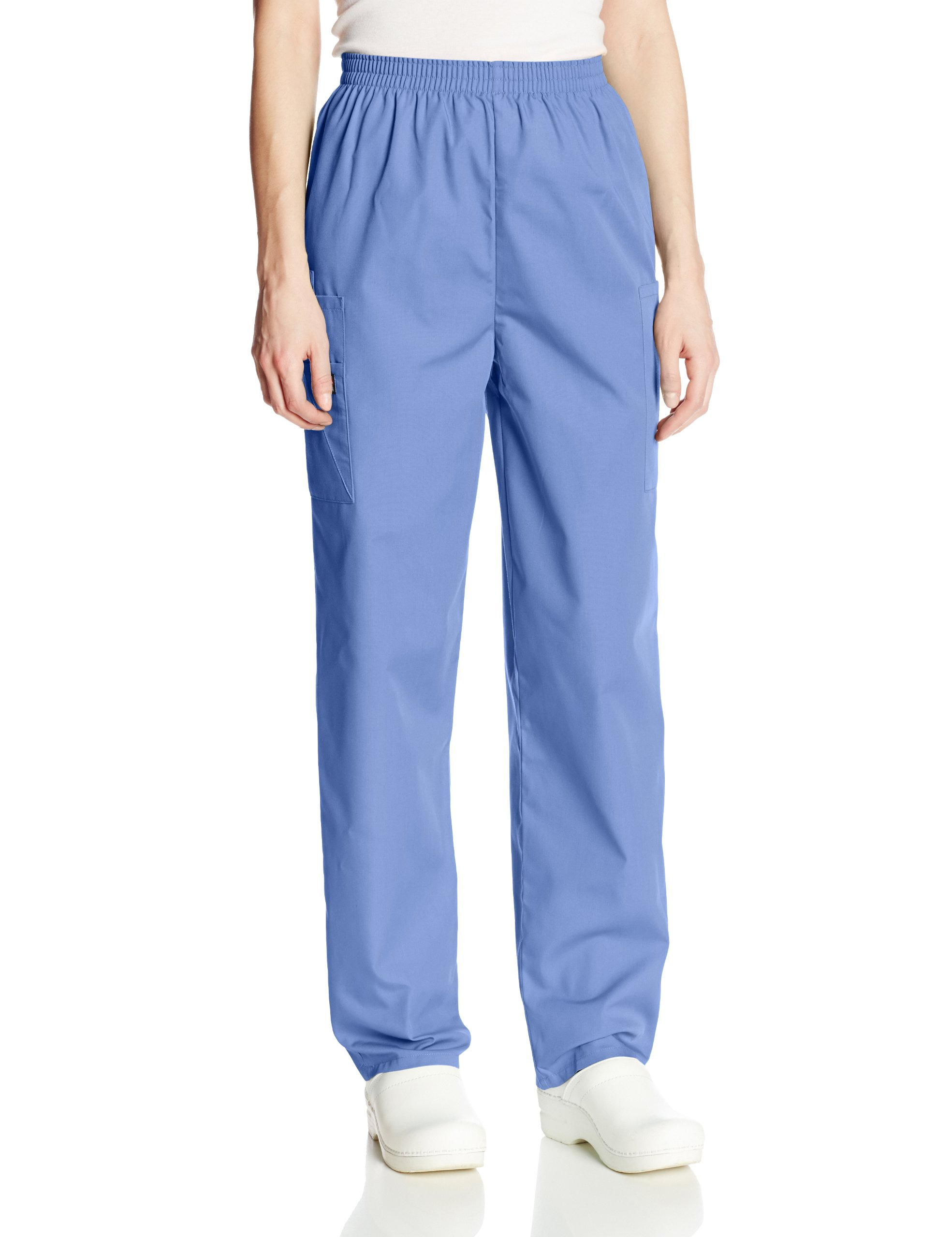 Cherokee Women's Workwear Scrubs Pull-On Cargo Pant, Ciel, Medium