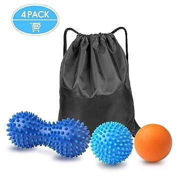 Gvoo - Juego de 4 bolas de masaje diferentes para los pies, bola ...