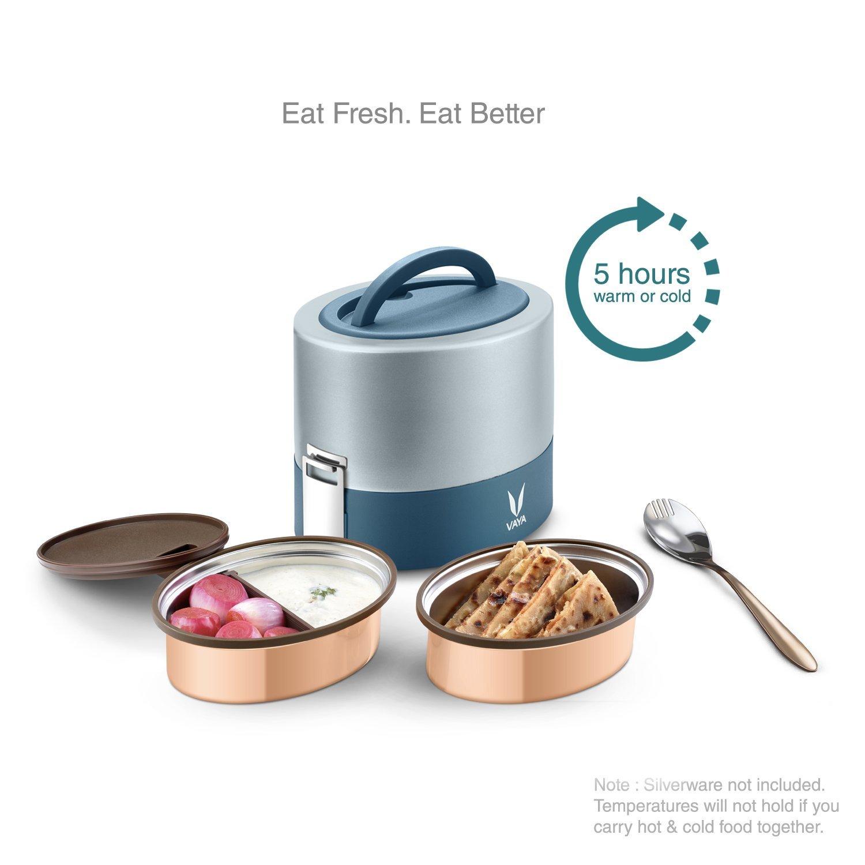 Amazon.com: Vaya Tyffyn 600 Insulated Lunch Box - Stainless Steel ...