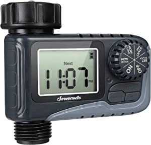 DEWENWILS Sprinkler Water Timer, Outdoor Garden Hose Timer Programmable with Automatic Faucet Watering Timer for Yard Lawn Irrigation, Auto Manual Rain Delay Mode