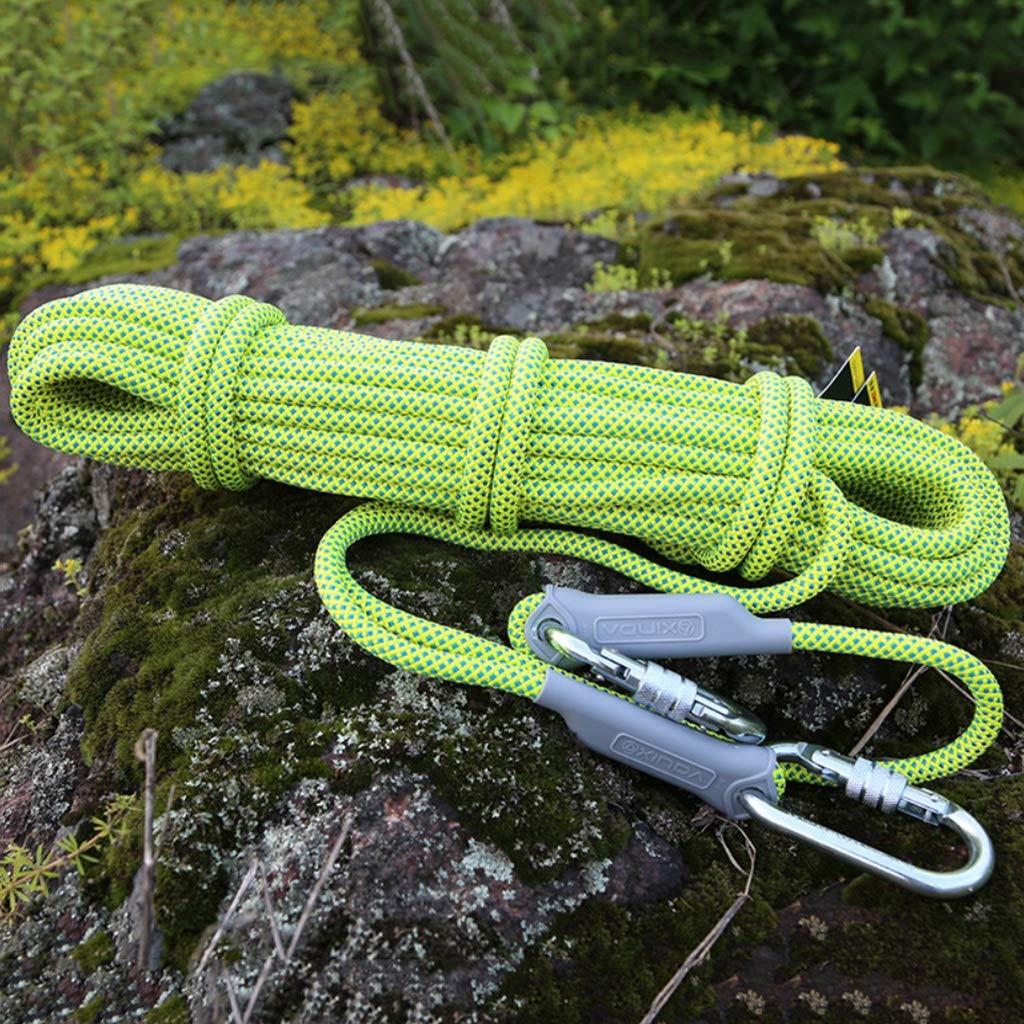 クライミングハーネス 低弾性、厚さ14mmのエンジニアリング保護ロープ、ポリエステルノンスリップ防水消防補助ロープと低抵抗ロープ (Color : 14mm-30m) 14mm-30m
