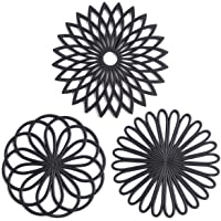Set of 3 Silicone Trivet Mat - Hot Pot Holder Hot Pads for Table & Countertop - Trivet for Hot Dishes - Non-Slip & Heat…