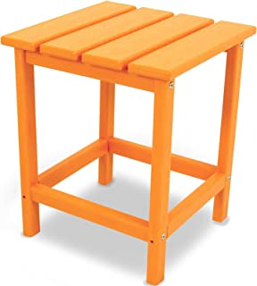 """product image for POLYWOOD ECT18TA Long Island 18"""" Side Table, Tangerine"""