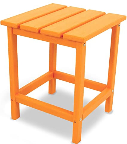 Ordinaire POLYWOOD ECT18TA Long Island 18u0026quot; Side Table, Tangerine