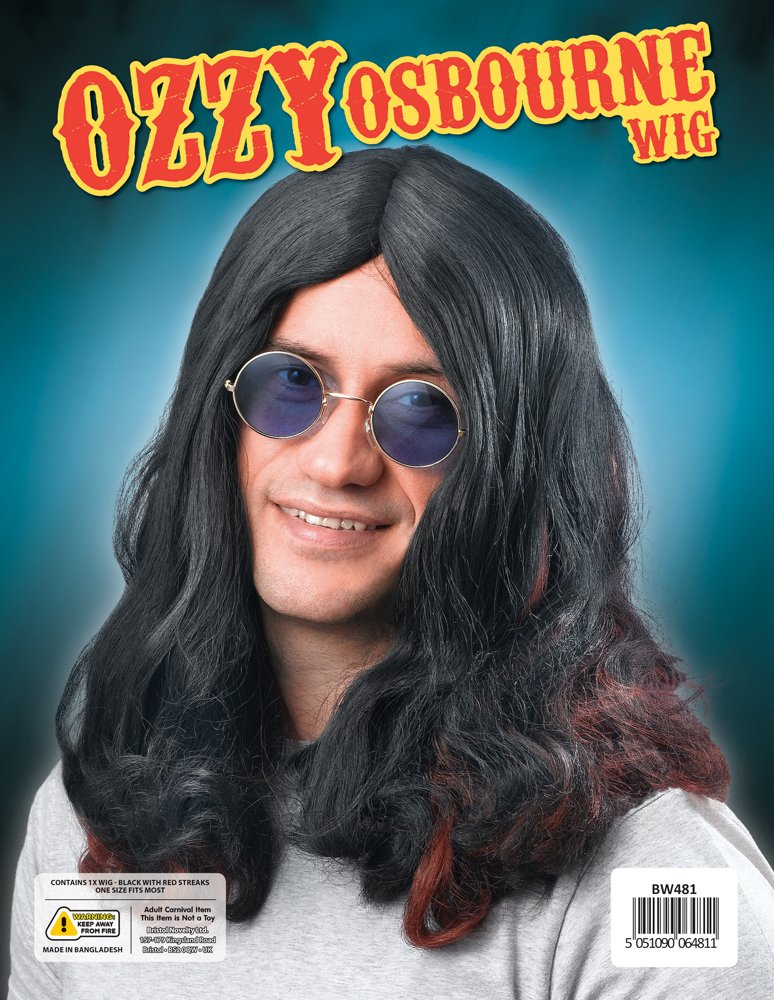 Long Black Wig Ozzy Osbourne Fancy Dress (peluca): Bristol Novelty: Amazon.es: Juguetes y juegos