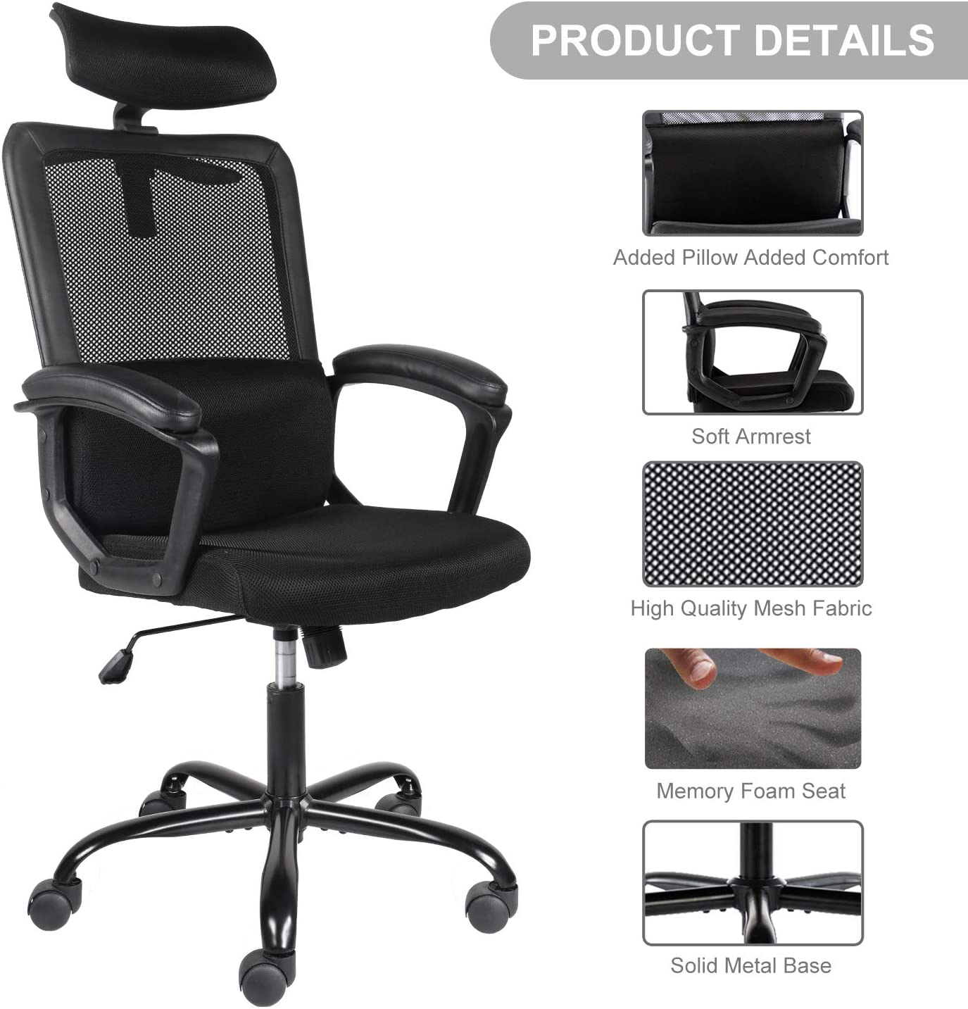 71U2svQEwOL. AC SL1500 - What Are The Best Office Chair For Lower Back Pain Under $300 - ChairPicks