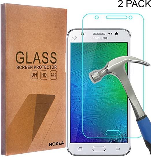 new concept 14000 25ead [2 Pack] Samsung Galaxy J7 Screen Protector, NOKEA [Tempered Glass] with  [9H Hardness] [Crystal Clear] [Easy Bubble-Free Installation] [Scratch ...
