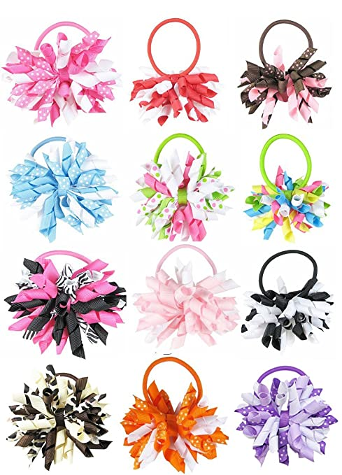 hipgirl 4� large boutique hair bow clips