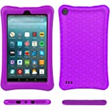 Fire 7 2017 Case Cover-TIRIN Light Weight Shock Proof,Skid Proof Soft Silicone Back Cover Case Fire 7 2017(Do not Fit Fire 7 2015),Purple