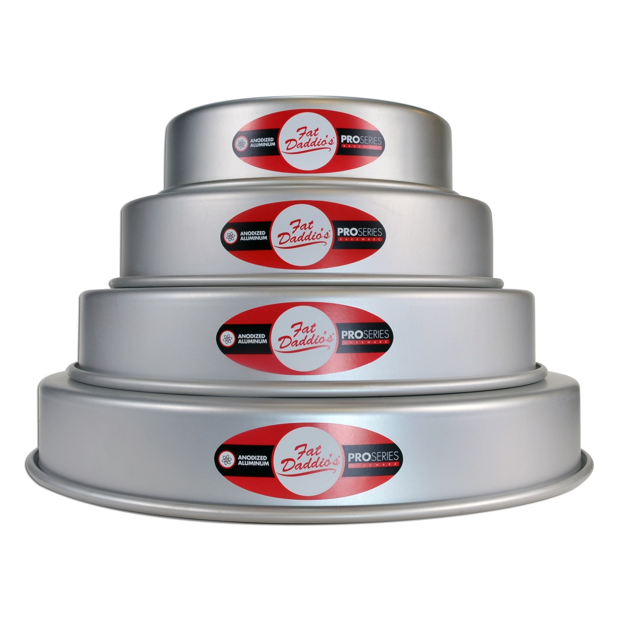 Fat Daddios Fat Daddio's 4 Tier 6'', 8'', 10'' and 12'' Round Pan Set