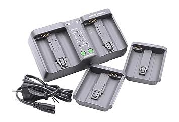 vhbw Cargador Dual rápido para cámaras, videocámaras, DSLR Nikon EN-EL18, EN-EL4, EN-EL4a, EN-EL4e