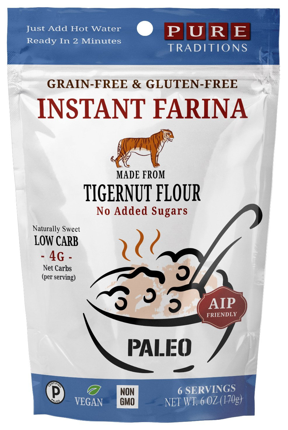 Instant Farina, AIP Friendly, Certified Paleo, Gluten & Grain Free (6 Ounce)