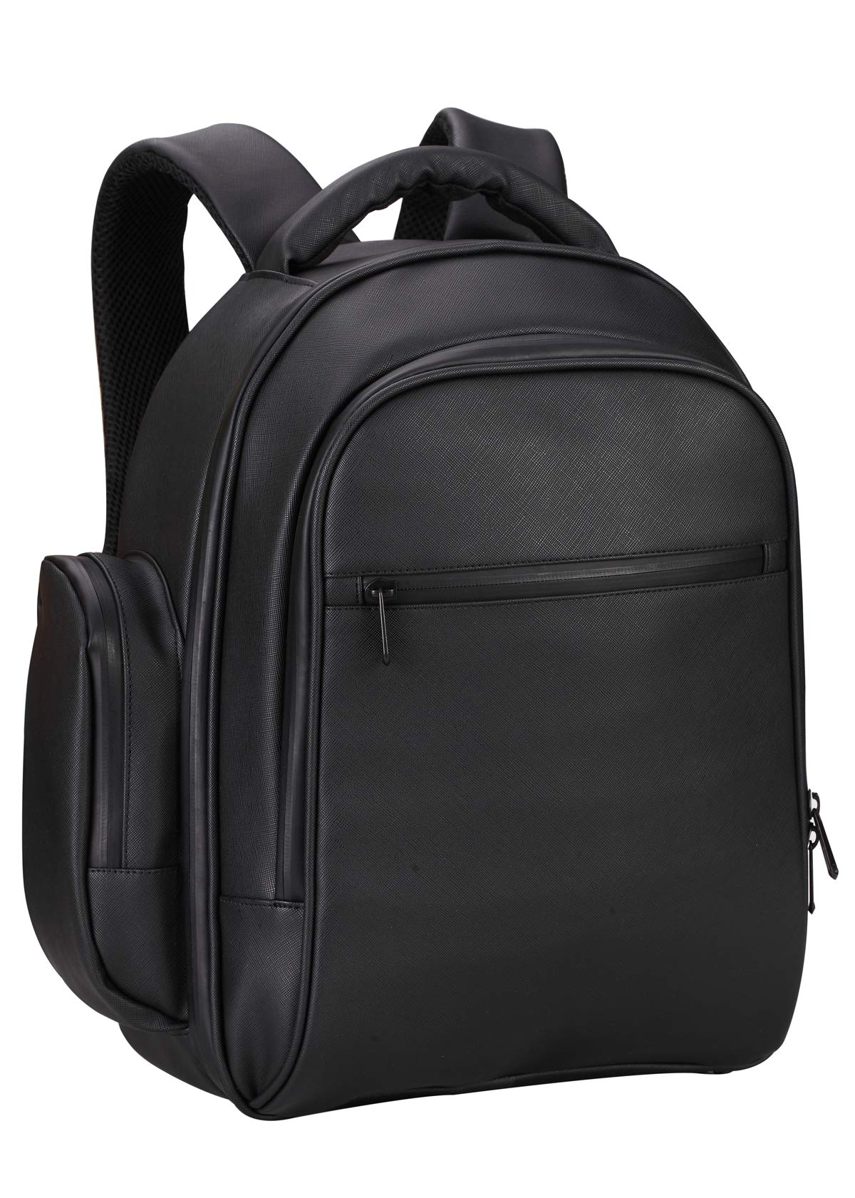 Drone Backpack Waterproof Shoulder Bag PU Leather Travel Backpack Black for DJI Mavic 2 Pro/Zoom