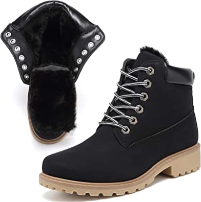 KARKEIN Ankle Boots for Women Low Heel