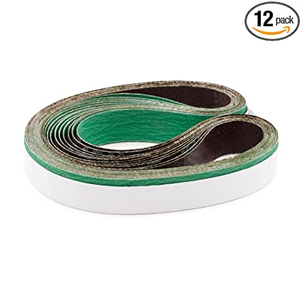1 X 42 Inch 40 Grit Metal Grinding Ceramic Sanding Belts Extra Long Life 12 Pack
