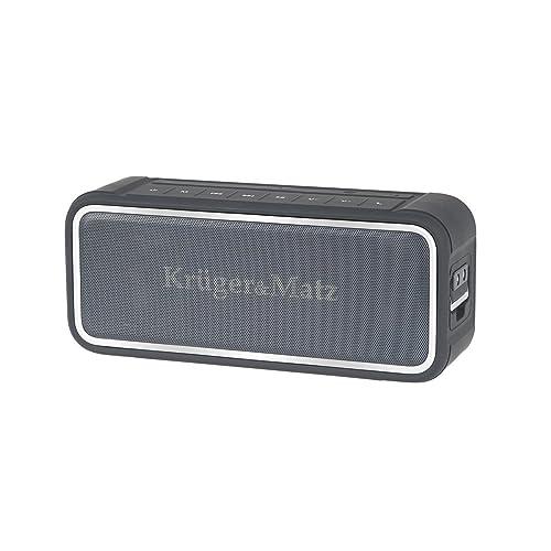 Krüger Matz km0523 X L Discovery Bluetooth 4 0 Mini Altavoz tecnología de Maxx Bass NFC IP67 Impermeable portátil Gris