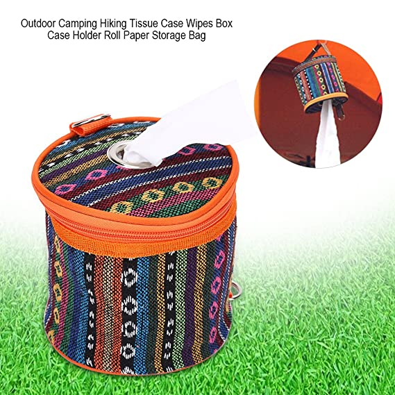 Amazon.com: Vbestlife Tissue Holder Toilet Paper Storage Holder Outdoor Hiking Roll Paper Hanging Cover Wipes Box Case Holder Storage Bag with Hook for ...