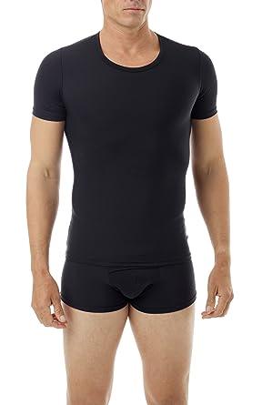 de17bbedfe Underworks Mens Extreme Gynecomastia Chest Binder Girdle T-shirt Small Black