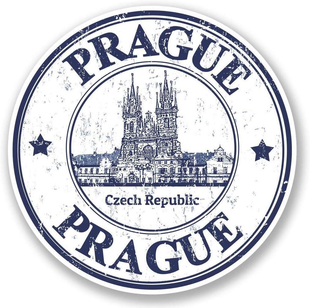 "Prague Czech Republic Vinyl Sticker Decal Laptop Car Bumper Sticker Travel Luggage Car iPad Sign Fun 5"""