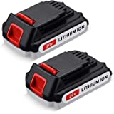 Upgraded 2Packs 3600mAh 20 Volt MAX Lithium Ion Battery LBX20 Replace for Black+Decker 20V Max Lithium Battery LBXR20…