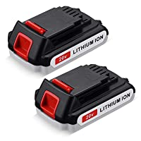 Upgraded 2Packs 3600mAh 20 Volt MAX Lithium Ion Battery LBX20 Replace for Black+Decker 20V Max Lithium Battery LBXR20 LB20 LBX20 Black Decker 20v Battery