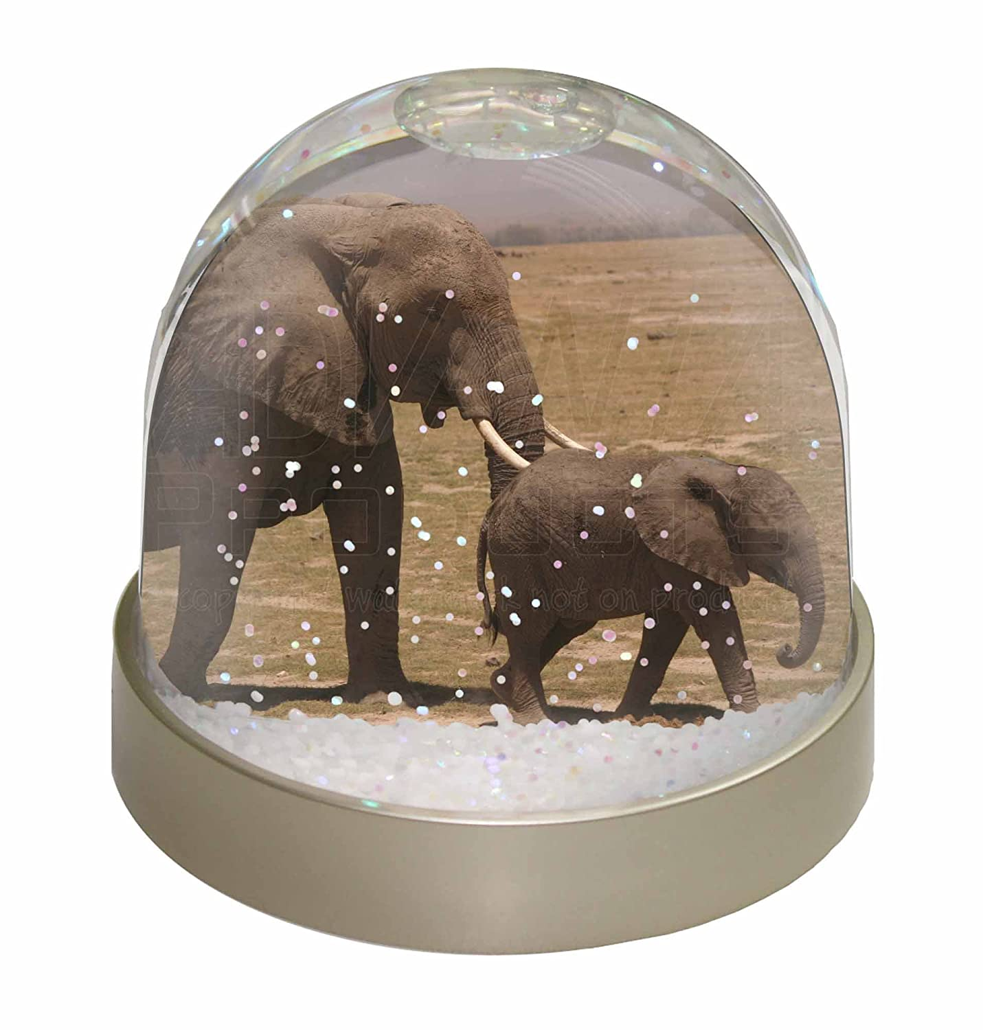 Advanta Elephant and Baby Tuskers Snow Waterball, Multi-Colour, 9.2 x 9.2 x 8 cm Advanta Products AE-6GL