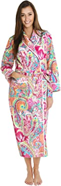 Enjoy the comfort of cotton in this lounge robe by Alexander Del Rossa. Features include inside tie closure and pockets.