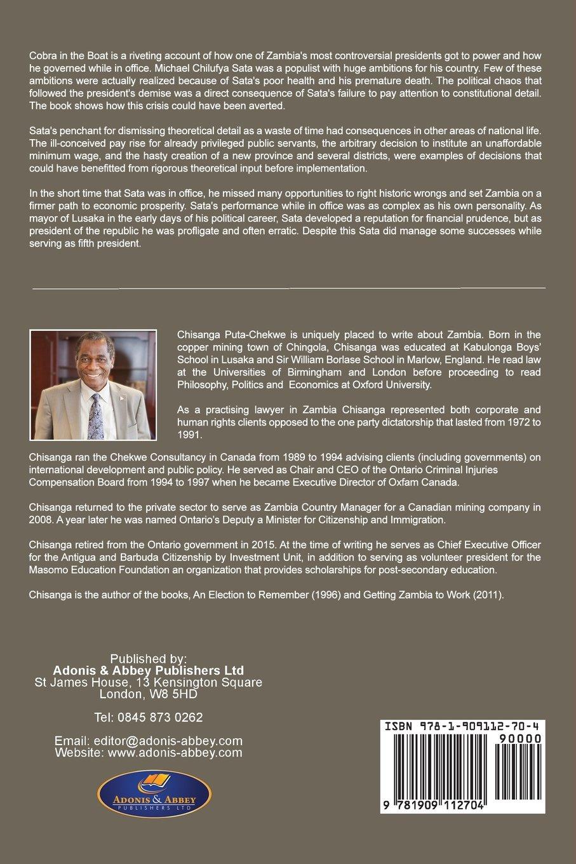 Cobra In The Boat: Michael Sata's Zambia: Chisanga Putachekwe:  9781909112704: Amazon: Books