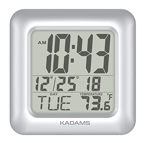 kadams Digital Baño Ducha reloj, impermeable para agua Spray, temperatura interior, contador de segundos, ...