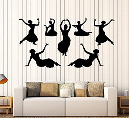 Indian Woman Buddha Dance Wall Stickers Hinduism Living Room Home Decor Wall Decals Vinyl Art Removable Home & Garden