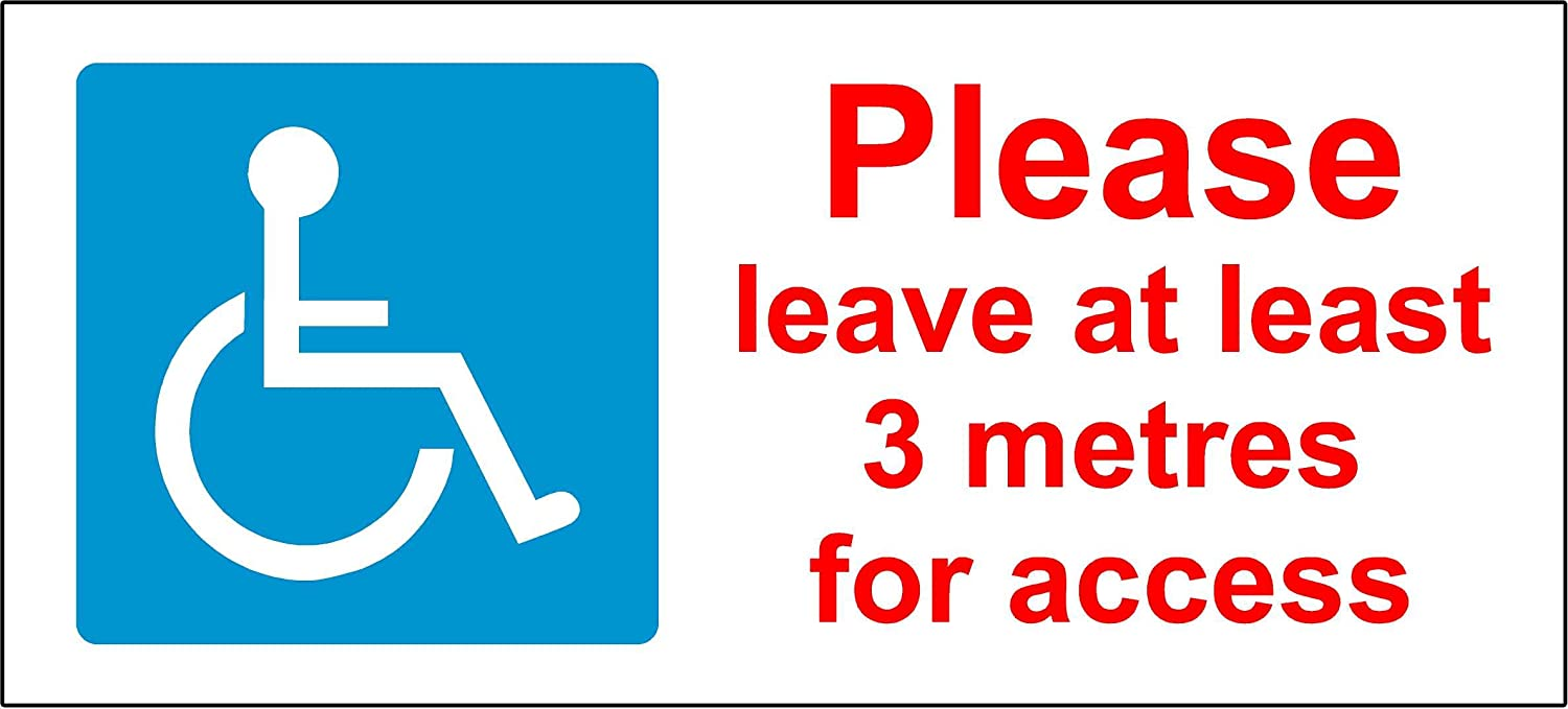 SELF ADHESIVE Disabled access Mobility Blue Badge car sticker decal campervan KPCM Display