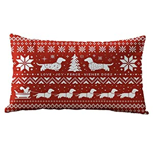 30CM x 50CM Cotton Linter Christmas Rectangle Cotton Linter Pillow Cases Cushion Covers Christmas Rectangle Cotton Linter Pillow Cases Cushion Covers➪Laimeng (E)