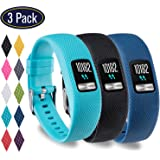 KingAcc Garmin Vivofit 4 Bands, Silicone Replacement Band for Garmin Vivofit 4, with Secure Metal Watch Clasp Buckle Wristband Strap Women Men Large Small