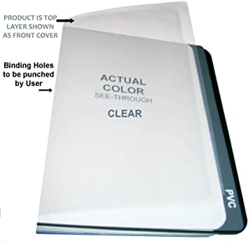 Amazon Com 10 Mil Legal Clear Plastic Report Covers 8 1 2 X 14 Qty 100 Binding Sheets Office Products