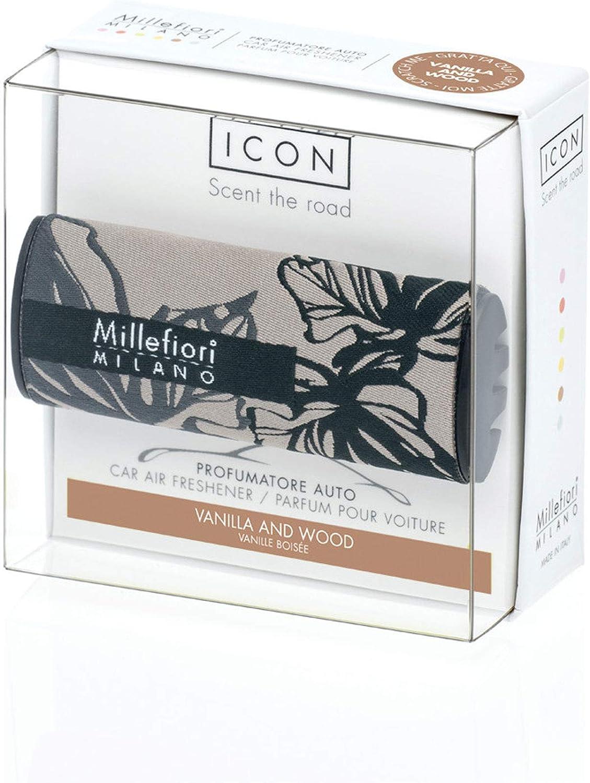 Millefiori Milano Car Air Freshener Icon Textile Floral 73 Vanilla Wood Mainapps Drogerie Körperpflege