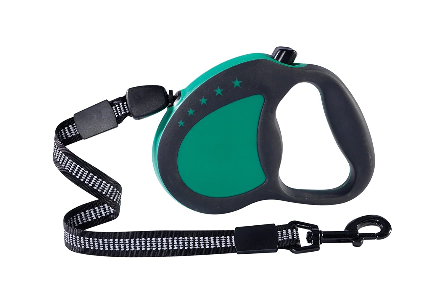 Guardian Gear Retractable Reflective Nylon Cord-Style Dog Leash with 16' Lead, Large, Green