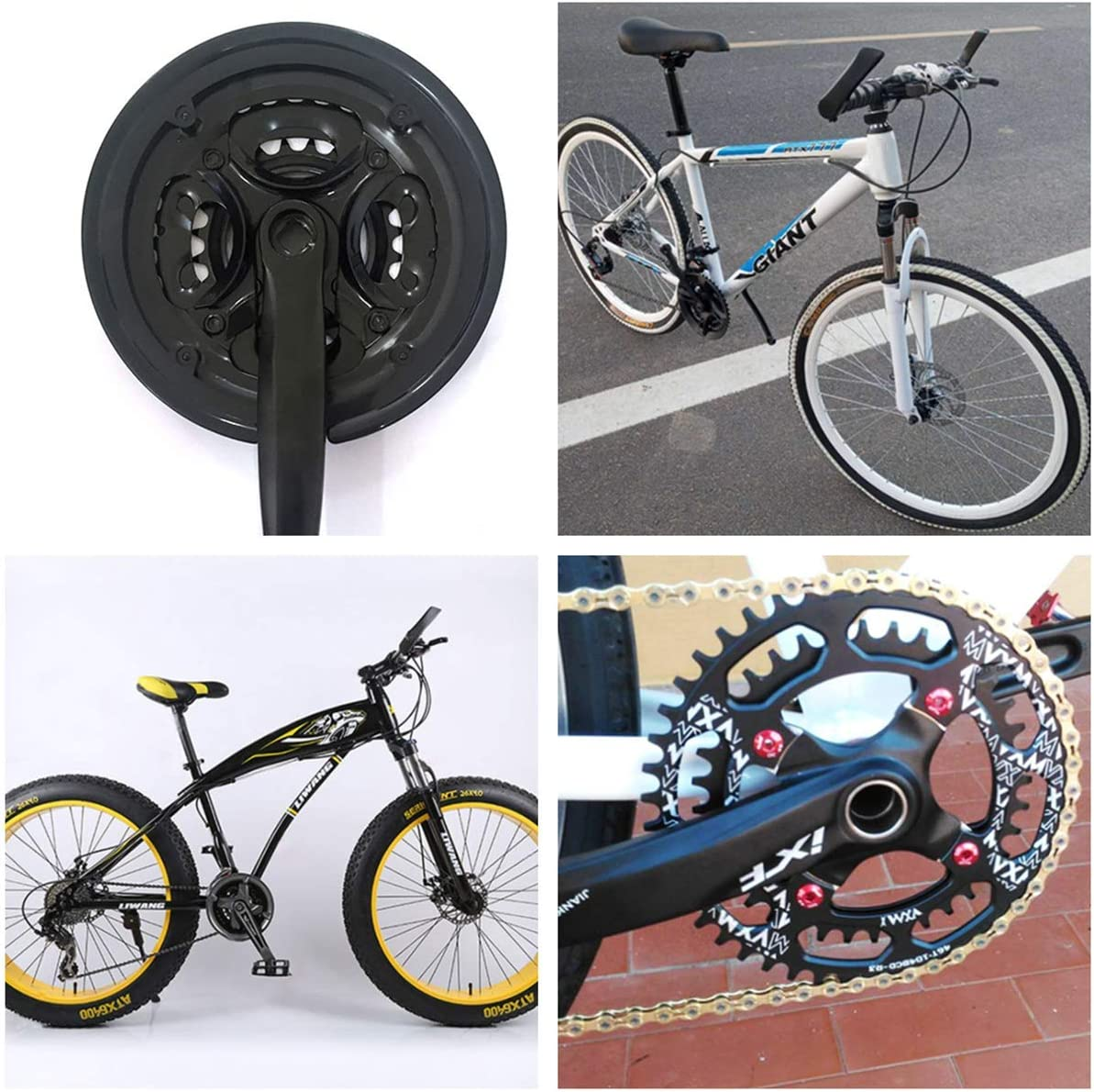 N\A Bike Sprocket Cover Bike Chain Guard Protector Black Plastic Cycling Crank Ring Protector for Bicycle Road Bike Mountain Bike