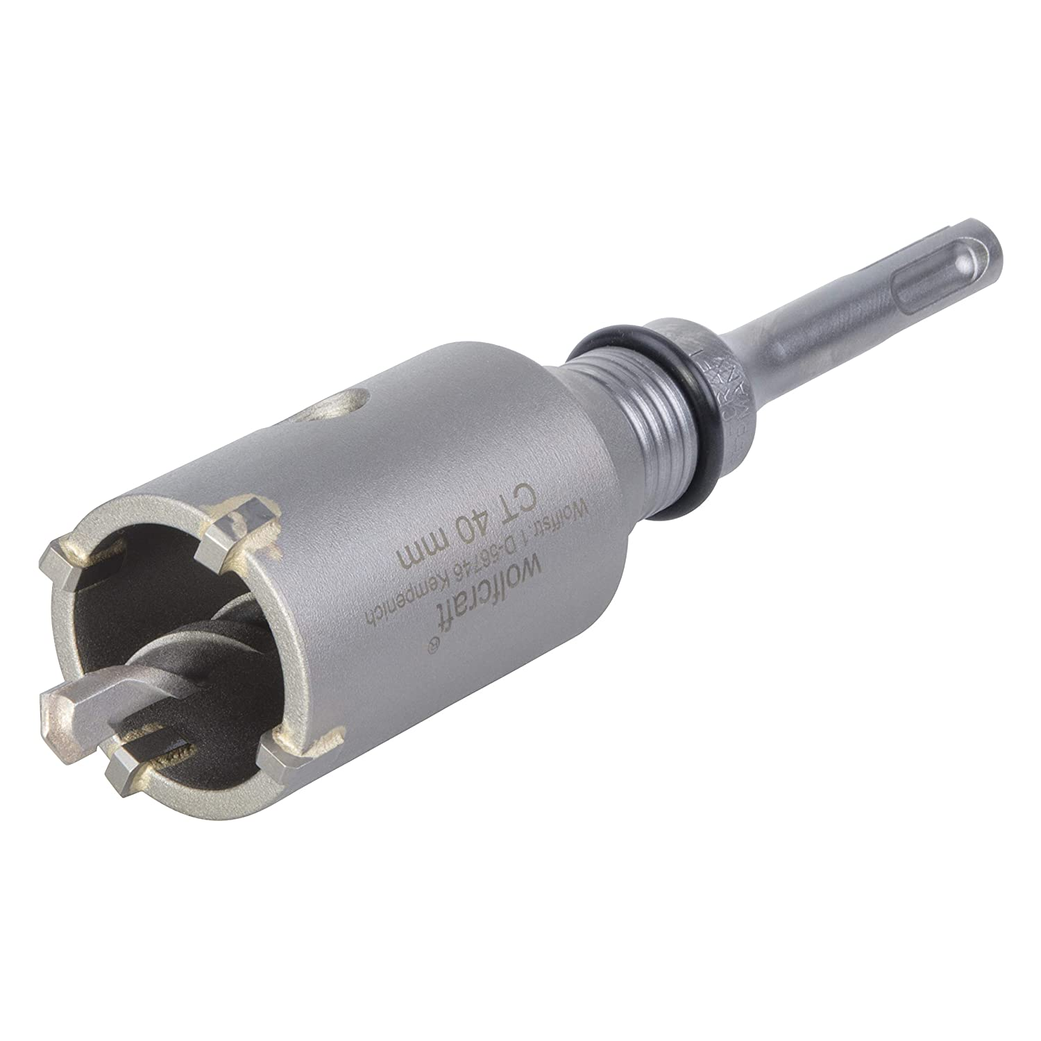 Wolfcraft 5480000 40mm Hollow Annular Bit CT with SDS Plus Adapter Impact and Shock Resistant