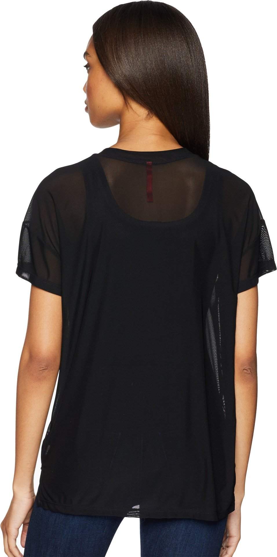 UNIONBAY Women's Fine Mesh Top, Black, Large by UNIONBAY (Image #2)