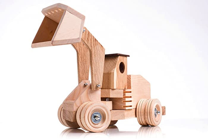 Handmade Wooden Tractor With Loader