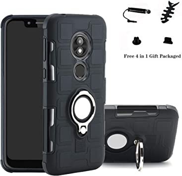 LFDZ Moto G7 Power Anillo Soporte Funda, 360 Grados Giratorio Ring ...