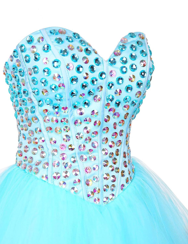 Dresstells@ Short Homecoming Dress Tulle Sweetheart Prom Dress with Beadings