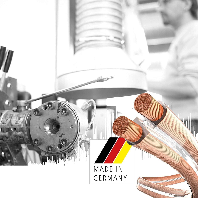 Made in Germany farblich kodiert 10m transparent 003020010A verlegefreundliche S//Z-Verseilung Lautsprecherkabel 8 Aderendh/ülsen2 x 0,75 mm/² inakustik universell einsetzbar inkl
