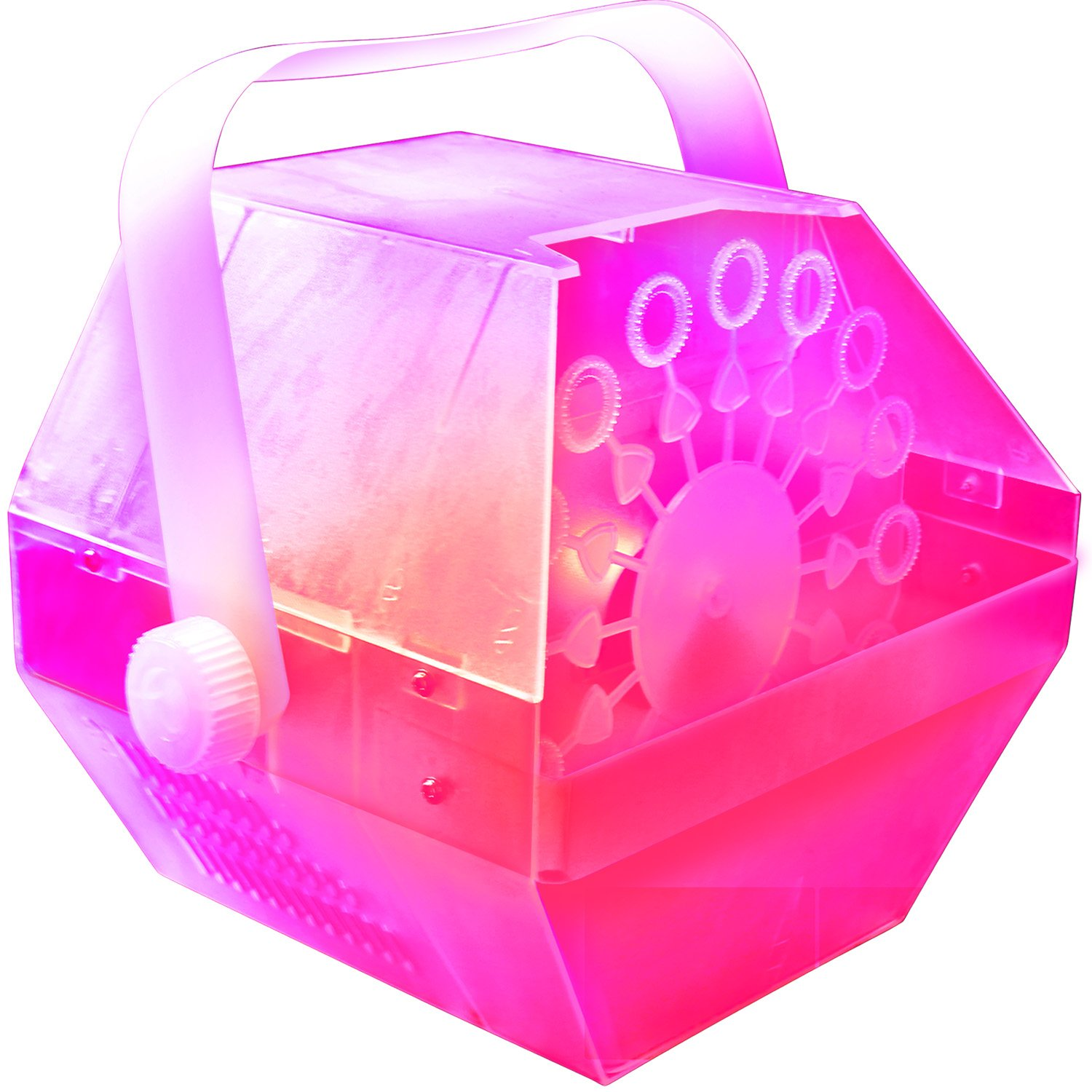 LED Bubble Machine - Lights Up Changing Colors to the Beat of the Music as it Makes Lots of Bubbles. Great for Birthday Parties. by Adkins Profesional Lighting