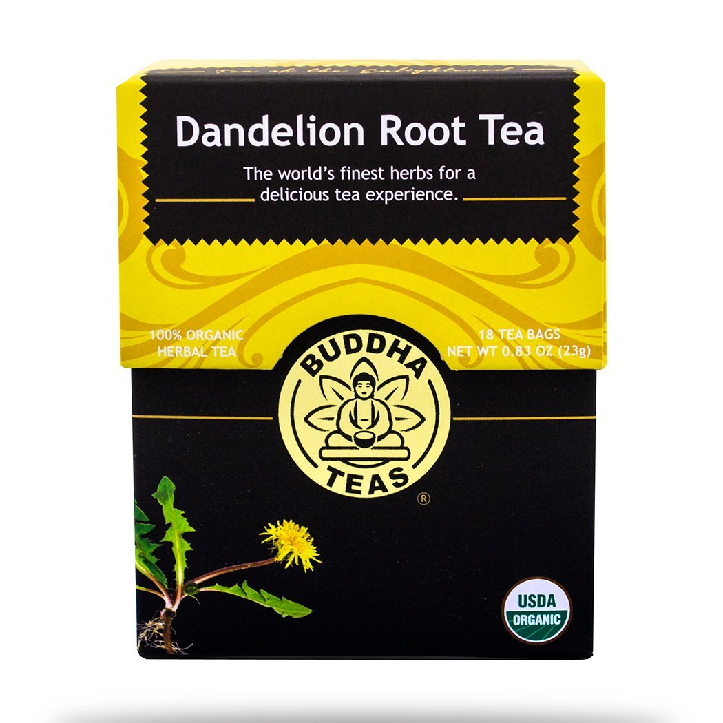 Dandelion Root Tea (2 Boxes) - Premium Pure Single HERB 100 % Organic Herbal Tea - Buddha Teas - 18 Sachets Bleach Free Tea Bags Per Box