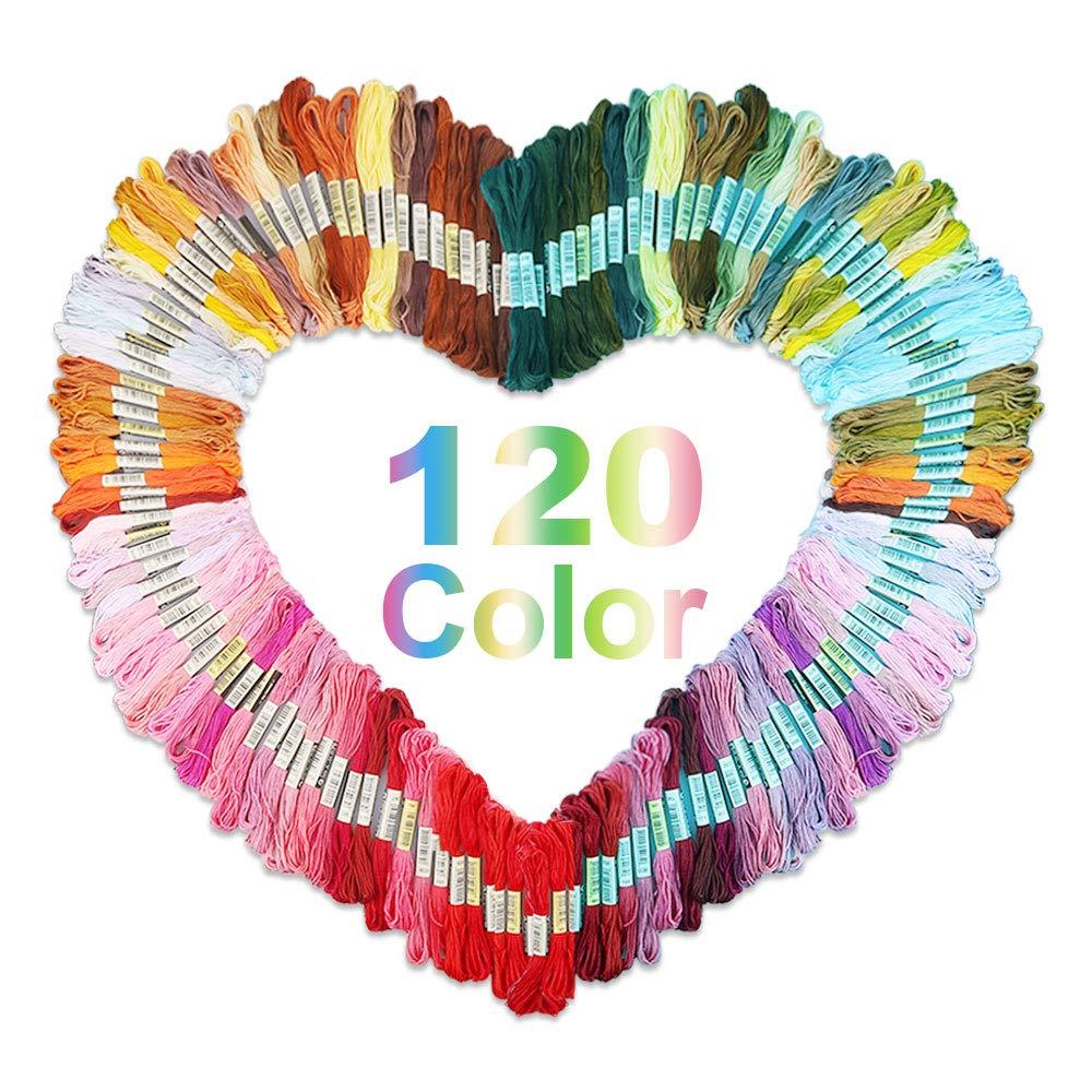 Vegena Stickgarn 100 Farben Sticken Set Stickset Stickerei