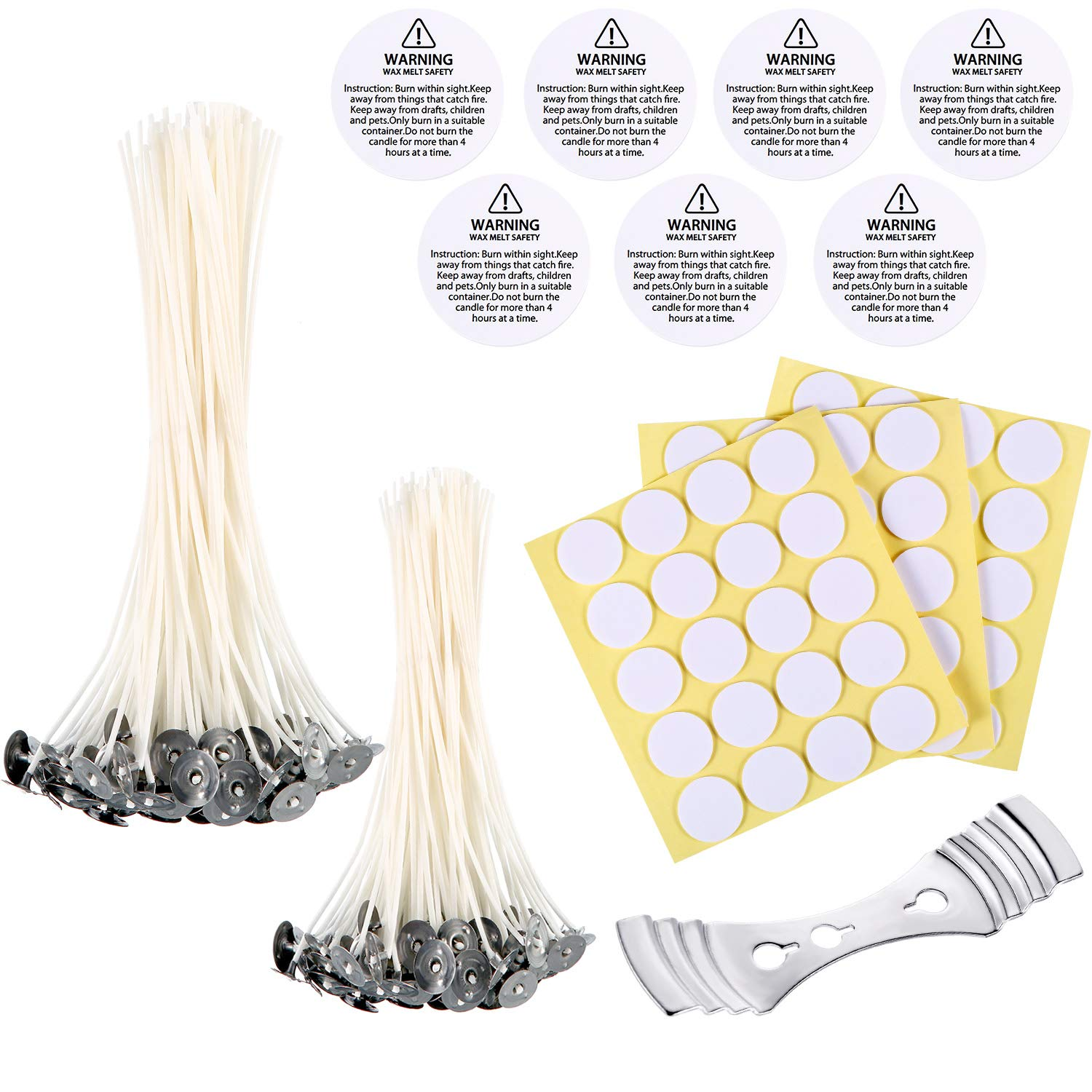 CozYours 8 inch Beeswax Hemp Candle Wicks with Candle Wick Stickers /& Candle Wick Centering Device,50//50//1 pcs;Low Smoke/&Natural;Candle Wicks for Candle Making.Candle DIY Hacks E-Book Included!