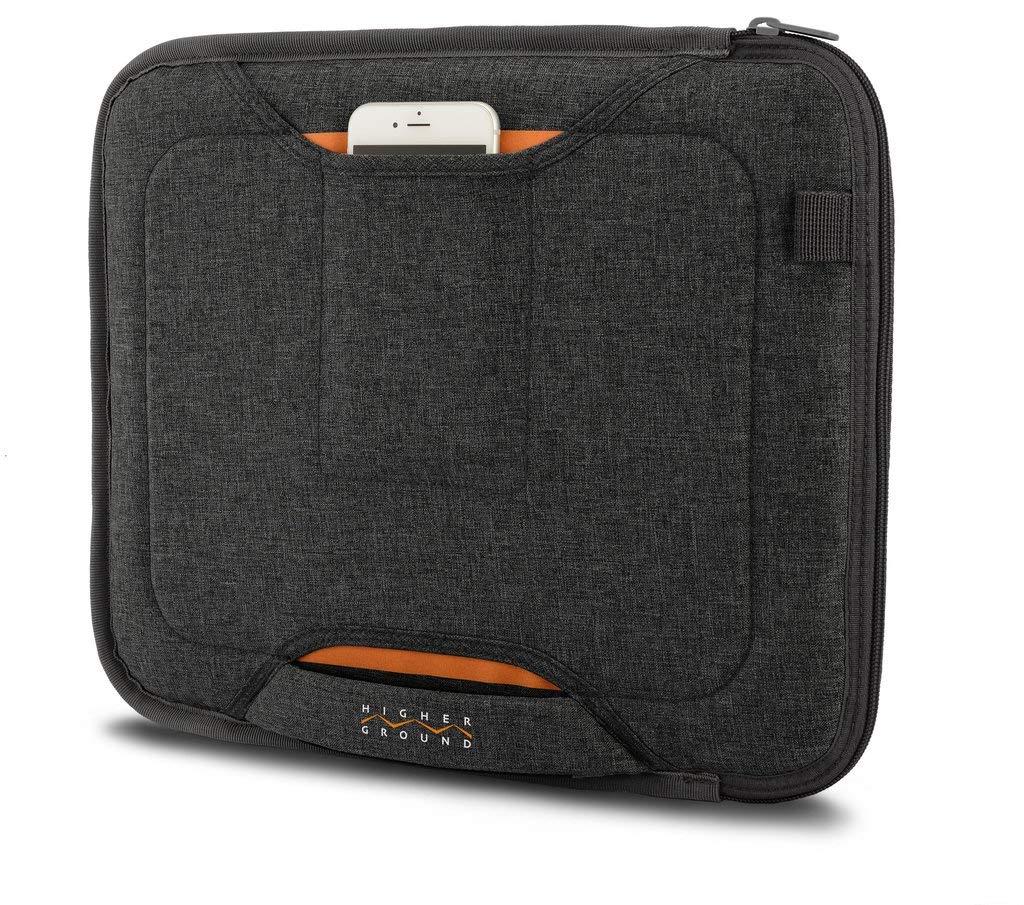 Higher Ground 13'' Flak Jacket Slim Laptop Case with Organizer Pocket and Handle for Chromebook/iPad Pro 12.9/MacBook