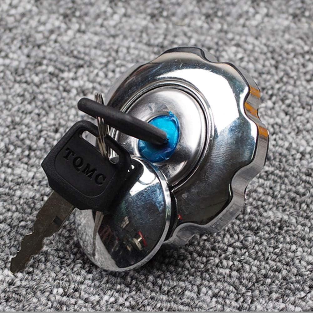Denkqi Blocco coprimoto Gas del combustibile del Serbatoio cap Set//Fit for Honda CG125 CG 125 Ricambi Alluminio Sostituzione Gas del combustibile del Serbatoio della Motocicletta